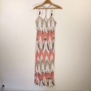 Jessica Simpson maxi dress braided straps sz small